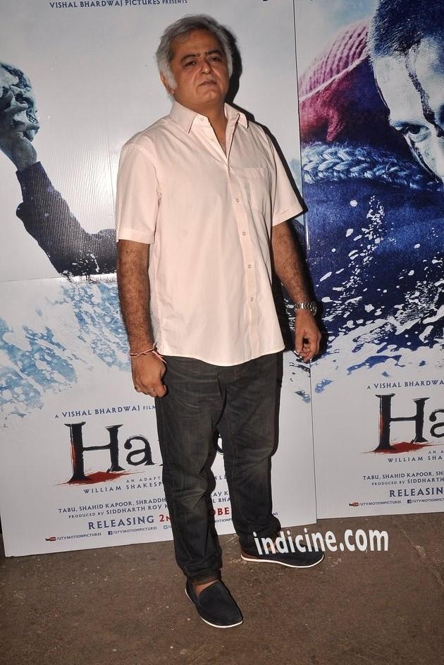 Hansal Mehta at Haider screening