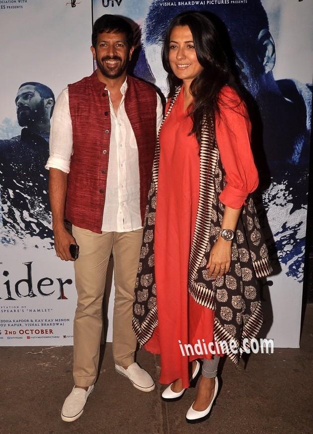 Kabir Khan with wife Mini Mathur