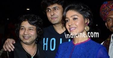 Kailash Kher, Sonu Nigam and Sunidhi Chauhan at Rang Rasiya music launch