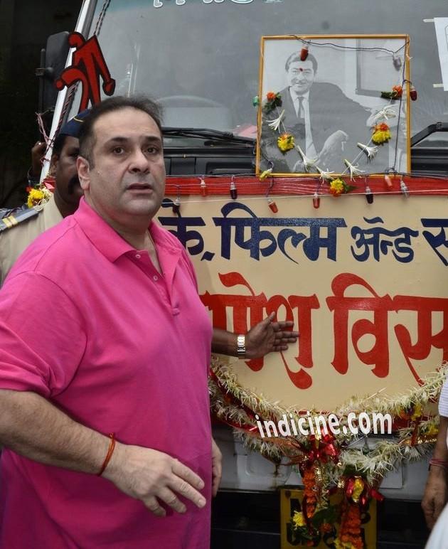 Rajeev Kapoor at Ganpati visarjan