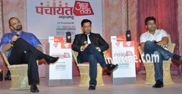 Rohit Shettty, Madhur Bhandarkar, Ashutosh Rana at Aaj Tak Panchayat Talk Show