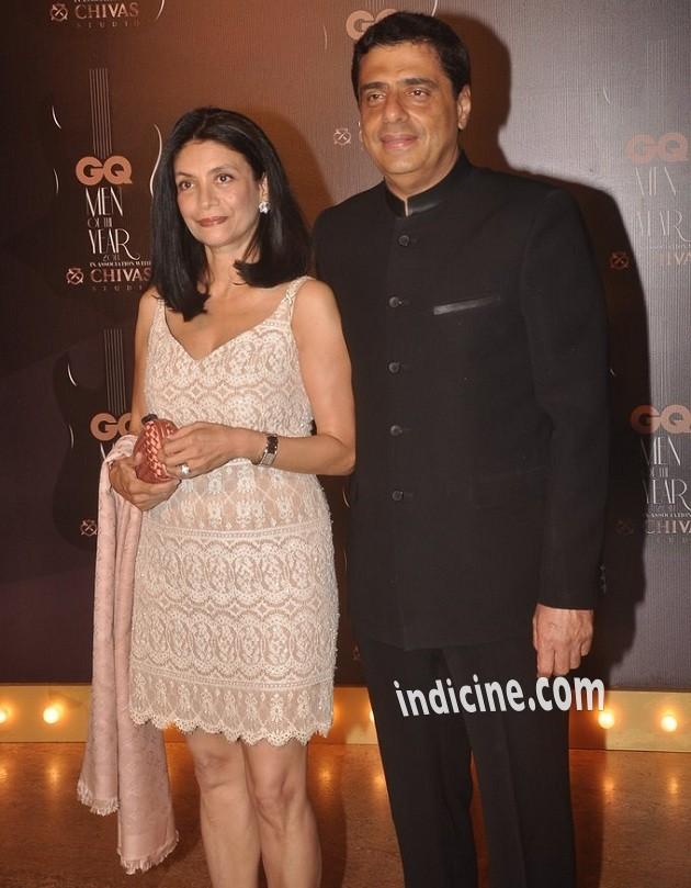 Ronnie Screwvala with wife Zarina Mehta