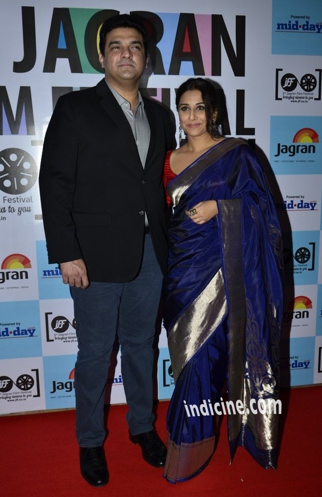 Siddharth Roy Kapur with wife Vidya Balan
