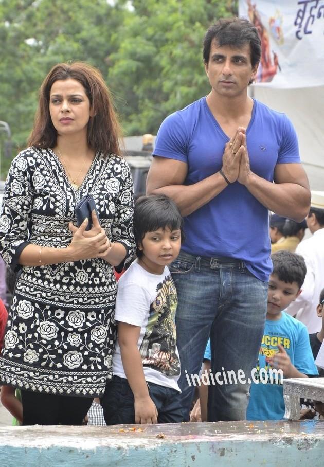 Sonu Sood with wife Sonali