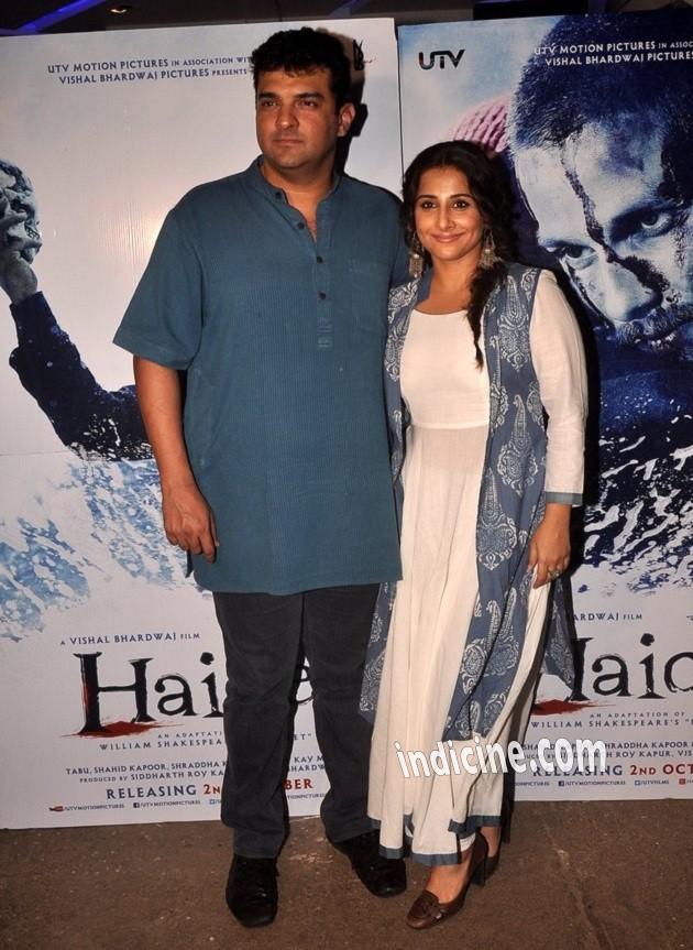 Vidya Balan with husband Siddharth Roy Kapur