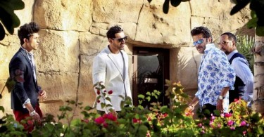 John Abraham, Anil Kapoor and Nana Patekar on the sets of Welcome Back