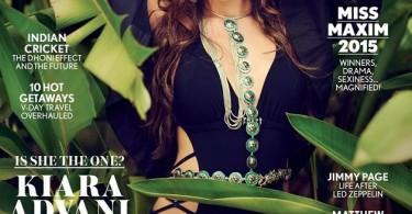 Kiara Advani on Maxim India Magazine Cover