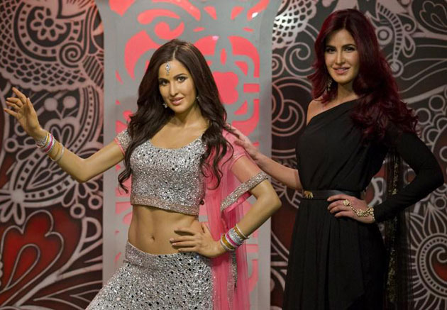 Katrina Kaif with her wax statue in London