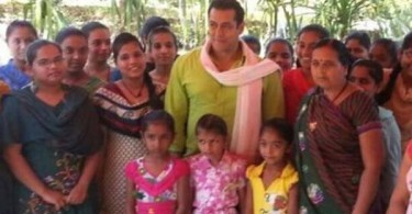 Salman Khan spends time with orphan girls on the sets of Prem Ratan Dhan Payo