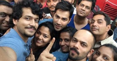 Varun Dhawan with Rohit Shetty's Dilwale team