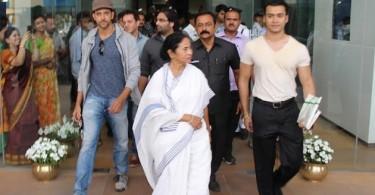 Hrithik Roshan with Mamata Banerjee