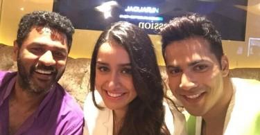 Prabhu Deva, Shraddha Kapoor and Varun Dhawan