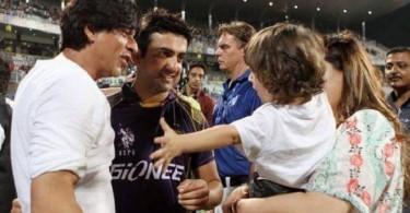 SRK with Gautam Gambhir