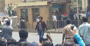 Shahrukh Khan shooting for Fan at Chawl, Mumbai