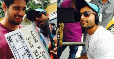 Sidharth Malhotra and Shakun Batra on the sets of KAPOOR and SONS