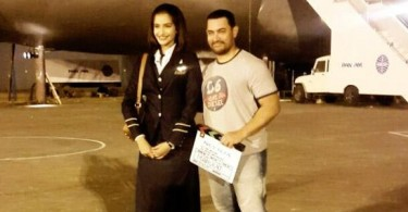 Sonam Kapoor on the sets of Neerja