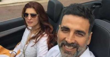Akshay Kumar with wife Twinkle Khanna in France