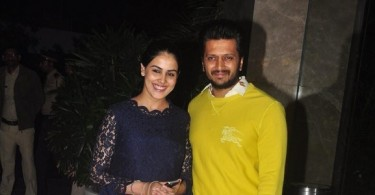Riteish with wife Genelia Deshmukh