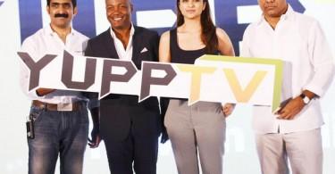 Parineeti Chopra with Brian Lara at YuppTV launch