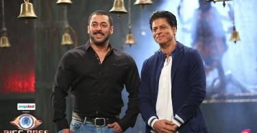 Shah Rukh Khan with Salman Khan at Mehboob Studio
