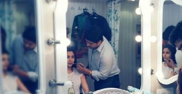 Anushka Sharma in her makeup room