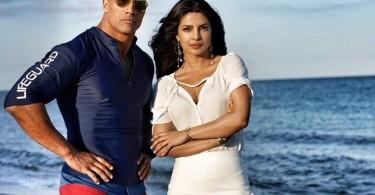 Priyanka Chopra with Baywatch The Rock
