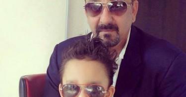 Sanjay Dutt with his son Shahraan