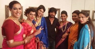 Shahrukh Khan with the transgender band 6 Pack Band