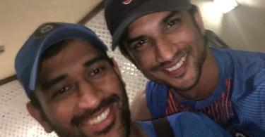 Sushant Singh Rajput, Dhoni celebrate India's victory
