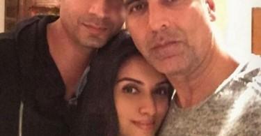 Asin Selfie with her husband Rahul Sharma and Akshay Kumar