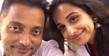 Vidya Balan with Sujoy Ghosh after wrapped up Kahaani 2