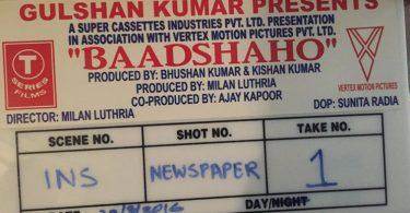 Shooting for 'Baadshaho' begins