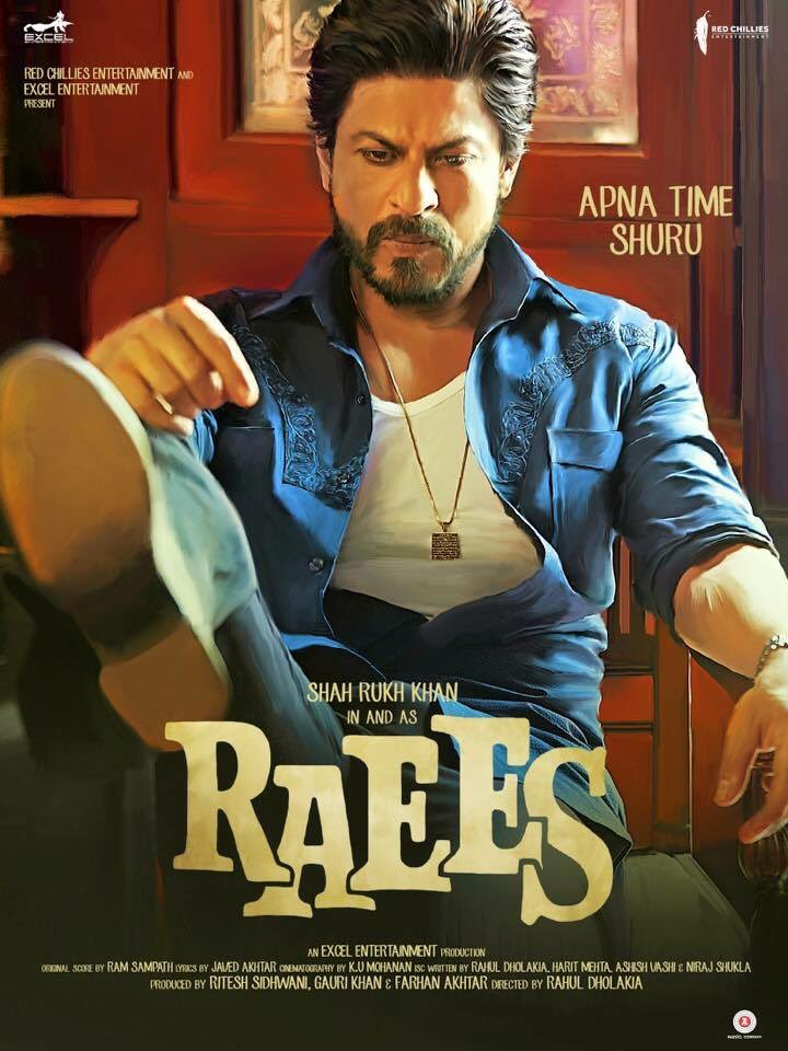 Poster Raees 2017 Full HD Movie Download 720p BlueRay