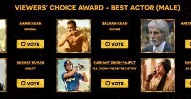 Zee Cine Awards Best Actor Nominations